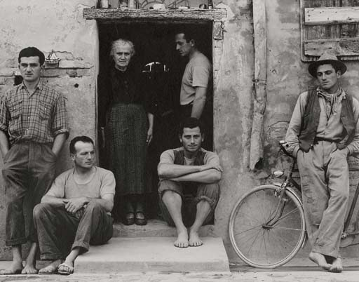 The Lusetti Family, Luzzara, Italy, 1953
