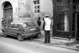 Minor car accident in Brasov